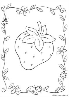 Strawberry-Coloring-Pages-09.jpg 607×850 pixels