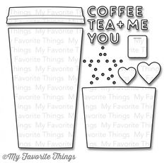 My Favorite Things COFFEE CUP Die-Namics MFT MFT552 zoom image