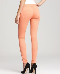 Paige Skinny Jeans-Soft Stretchy Fit! not baggy in knees, 98% cotton, 2% elastane, made in the U.S., I have peach color with black piping from hip to ankle, retail $189, cost $59.97 Century 21 (size 27)