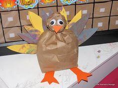paper bag turkey; thanksgiving craft