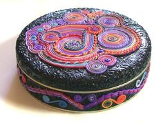 Large tin polymer clay Extrusion design Ex1. $75.00, via Etsy. by angelique