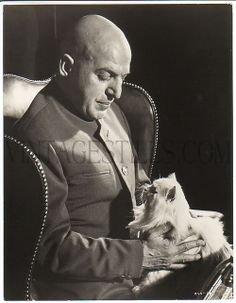 James Bond villain Telly Savalas as Blofeld in On Her Majesty's Secret Service