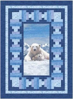 Easy Winter quilt pattern that uses a panel. Icebergs Quilt Pattern BS2-443 by Rose Cottage Quilting - Barb Sackel.  Check out our Winter patterns. https://www.pinterest.com/quiltwomancom/winter-patterns/  Subscribe to our mailing list for updates on new patterns and sales! http://visitor.constantcontact.com/manage/optin?v=001nInsvTYVCuDEFMt6NnF5AZm5OdNtzij2ua4k-qgFIzX6B22GyGeBWSrTG2Of_W0RDlB-QaVpNqTrhbz9y39jbLrD2dlEPkoHf_P3E6E5nBNVQNAEUs-xVA%3D%3D