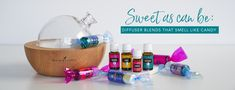 We've got an October solution for you that's a treat for kids of all ages: candy-scented diffuser blends! This spooky season, the child in you can keep your go-to Young Living Diffuser, Young Living Oils, Young Living Essential Oils, Diffuser Blends, Oil Diffuser, Classic Candy, Copaiba, Essential Oil Perfume, Favorite Candy