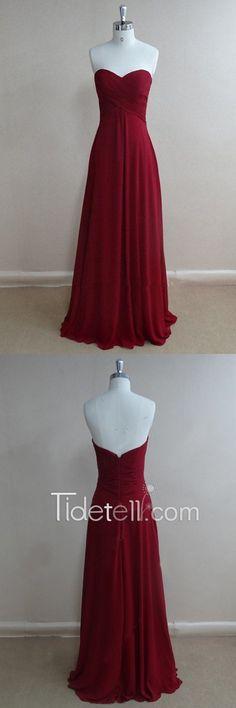bridesmiad dress,long bridesmaid dress,burgundy bridesmaid dress,chiffon bridesmaid dress,prom dress,sleeveless prom dress,burgundy prom dress
