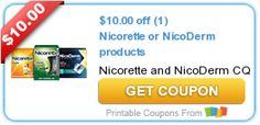 $10.00 off (1) Nicorette or NicoDerm products