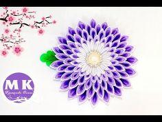 Мастер-класс Цумами Канзаши.Цветы из лент.Заколка для волос/Hairpin with flower Kanzashi. - YouTube