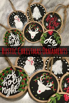 I love these adorable rustic wooden Christmas ornaments. They will match my Christmas decor amazingly! I always try to find new unique Christmas ornaments to add to our collection each year, this is perfect! #commissionlink #christmas #christmastree #christmasdecor #christmastime #ornament #rustic #wood