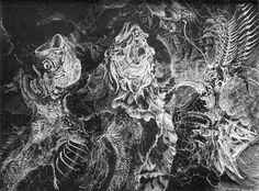 Hyman Bloom - Fish Skeletons