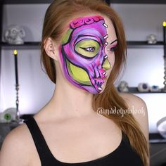 DONE IN ALL EYESHADOWS, AND OUTLINED IN EYELINER! Yep! No body paint here!!