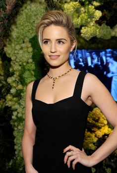 Dianna Agron wearing @dolcegabbana with Bvlgari necklace – BVLGARI 'Decades Of Glamour' Oscar Party #2014