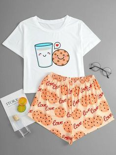 Cute Pajama Sets, Cute Pjs, Cute Pajamas, Girls Fashion Clothes, Teen Fashion Outfits, Outfits For Teens, Cute Lazy Outfits, Trendy Outfits, Cute Sleepwear