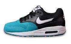 in stock 11d5b d8d5c Nike Air Max 1 En Ventas Azul Blanco Negro Deporte Zapatos Para Mujer €47,82