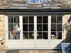 Timber Windows North are one of the UK's leading wooden windows and doors suppliers, adding value and boosting kerb appeal of homes across the North. Bifold Doors Onto Patio, Wooden Bifold Doors, Bifold French Doors, External French Doors, French Doors Patio, External Doors, Timber Windows, Timber Door, Windows And Doors