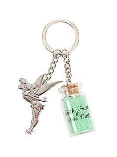 All you need is a little faith, trust and pixie dust. This key chain has you covered on the latter! Tinkerbell And Friends, Tinkerbell Disney, Peter Pan And Tinkerbell, Tinkerbell Fairies, Disney Fairies, Hot Topic Disney, Disney Love, Disney Stuff, Disney Peter Pan