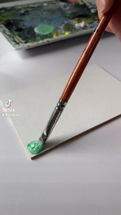 Art Drawings Beautiful, Art Drawings Sketches Simple, Art Painting Gallery, Diy Painting, Watercolor Art Lessons, Art Tutorials, Painting Tutorials, Mini Canvas Art, Guache