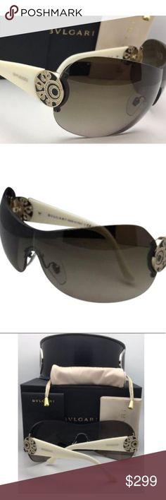 07b7510999 Bvlgari gold and ivory studded sunglasses Brand new never worn Bvlgari gold  and ivory studded sunglasses