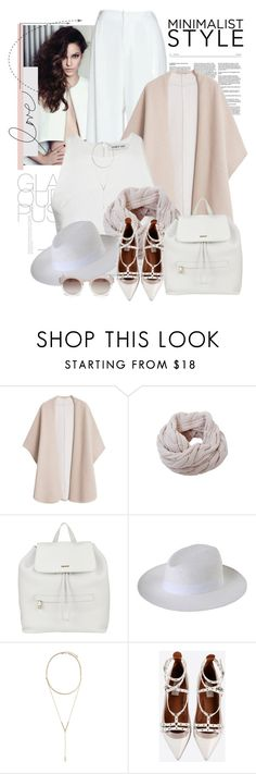 """""""Untitled #2293"""" by bellerodrigues ❤ liked on Polyvore featuring MANGO, Humble Chic, DKNY, 8, BCBGeneration, Valentino and Rebecca Taylor"""