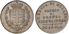 NumisBids: Nomisma Spa Auction 51, Lot 2327 : Studi per la monetazione del Regno (1860-1861) Milano Saggio di...