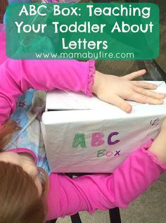 ABC Box: Teaching Your Toddler About Letters! Such a fun, simple way for your kids to learn about letters! ABC Box: Teaching Your Toddler About Letters! Such a fun, simple way for your kids to learn about letters! Teaching Toddlers Letters, Activities For Autistic Children, Kids Learning Activities, Infant Activities, Educational Activities, Teaching Kids, Alphabet Activities, Alphabet Crafts, Speech Activities