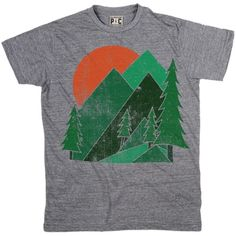 Men's The Woods T-Shirt | Vintage Nature Tee | Cool Mountain Tshirts | PalmerCash