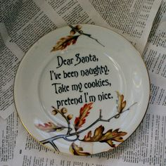 Royal Oak Cookies for Santa Plate by geekdetails on Etsy, $12.00