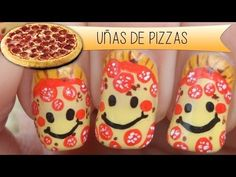 Nail Art - Diseño de uñas Pizza Calabresa - YouTube