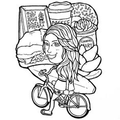 【torunaoi】さんのInstagramをピンしています。 《🚲☕Beach Cruising🍩🍔 #beach #beachcruising #beachcruiser #surfing #surfart #surfillustration #hawaii #aloha #sandwich #coffee #succulents #illust #illustration #plumeria #ビーチ #海 #サーフィン #ハワイ #アロハ #コーヒー #イラスト #イラストレーション》