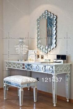 Entrance Tables Mirror Contemporary | Mirror furniture modern classical dressing table / desk / table ...