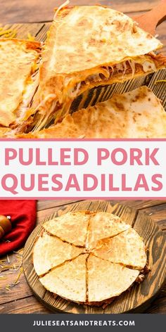 Got 15 minutes? You can make these quick and easy Pulled Pork Quesadillas with leftover pulled pork, shredded cheese, bbq sauce and tortillas. An easy lunch or dinner recipe! Tortillas, Sauce Barbecue, Bbq, Meat Appetizers, Appetizer Recipes, Dinner Recipes, Pulled Pork Quesadilla, Beef Quesadillas, Sausage Recipes