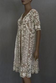 1920s Clothing at Vintage Textile: #2568 Irish crochet coat