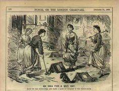 Indoor croquet. Punch Magazine, Oct. 24, 1863.