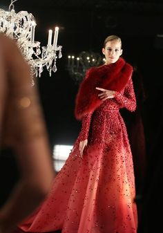 Backstage at Elie Saab Couture Fall 2014