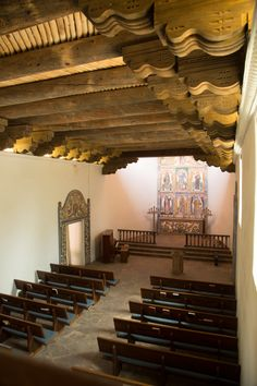 La Foret chapel, interior--this is the most amazing ceiling!