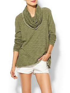 Free People Beach Cocoon Cowl Pullover   Piperlime