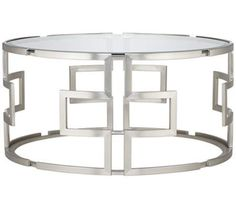 Geometric Silver Glass Coffee Table | 55DowningStreet.com