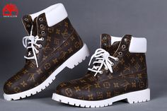 Men's Timberland Custom Louis Vuitton White Head Boots-Brown – louis vuitton shoe sneakers Custom Timberland Boots, Timberland Waterproof Boots, Timberland Boots Outfit, Timberland Mens, Timberlands, Tims Boots, Shoe Boots, Ankle Boots, Fresh Shoes