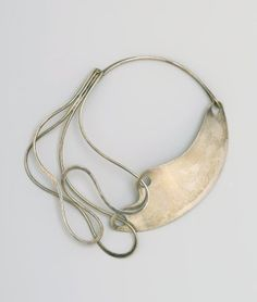 "Art Smith, ""Half and Half"" Necklace, designed by 1948. Sterling silver. Brooklyn Museum."