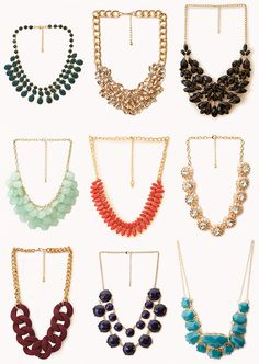 BEAUTY & THE BEARD: 9 GAUDY NECKLACES FROM FOREVER 21 THAT YOU NEED NOW!