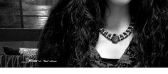 collana pietra ossidiana e strass