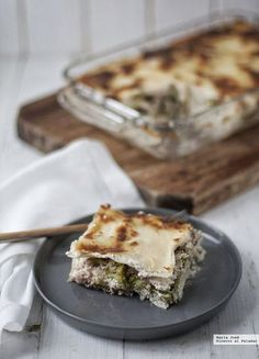 Lasana Lasagna Recipe Without Ricotta, Pasta Noodles, Canapes, Good Healthy Recipes, Food To Make, Food And Drink, Cooking Recipes, Favorite Recipes, Breakfast