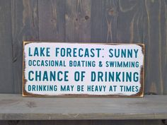Lake house decor - Funny signs - Rustic home signs - Farmhouse decor - Lake life - Humor - Farmhouse decor - Lake House - Rustic wood signs by DesignsbyShelH Lake House Signs, Lake Signs, Beach Signs, Cottage Signs, Cabin Signs, Rustic Wood Signs, Rustic Decor, Farmhouse Decor, Farmhouse Style