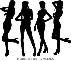 Find Silhouette Girl stock images in HD and millions of other royalty-free stock photos, illustrations and vectors in the Shutterstock collection. Thousands of new, high-quality pictures added every day. Silhouette Clip Art, Girl Silhouette, Sexy Drawings, Posing Guide, Photography Poses, Wall Murals, Art Reference, Royalty Free Stock Photos, Poster