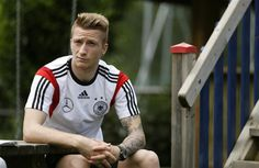 Marco Reus has been ruled out for a minimum of four weeks. Read more - http://www.squawka.com/news/borussia-dortmund-expect-marco-reus-to-be-out-for-four-weeks-after-tearing-ankle-ligaments-vs-scotland/174087