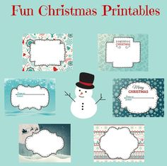 Free Printable Christmas Labels - In The Playroom Christmas Labels, Free Christmas Printables, Christmas Activities, Christmas Crafts For Kids, Diy Christmas Gifts, Christmas Fun, Free Printables, Christmas Planning, Holiday Crafts
