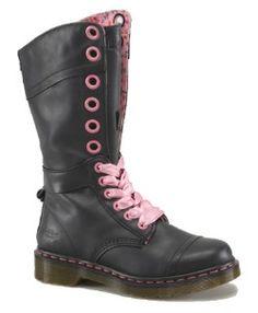 Dr Martens - Triumph 1914w Black Leather Boot - AL05