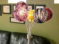 yarn lampshades #DIY