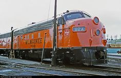 RailPictures.Net Photo: MILW 82A Chicago, Milwaukee, St. Paul & Pacific EMD F7(A) at Milwaukee, Wisconsin by Tom Farence