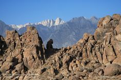 View of Mt. Whitney from Alabama Hills by TTVo, via Flickr