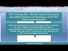 PDF-XChange Pro - Wie Sie mehrere Dokumente zu einer PDF Datei zusammenfassen - YouTube  #PDFXchange #PDFXchangePro #PDFXchangeEditor #PDFXchangeViewer